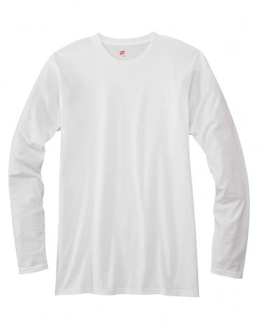 52 498L Nano-T® Long Sleeve Tee WHITE