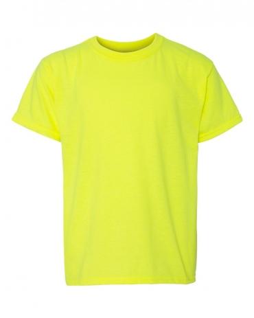Gildan 64500B SoftStyle Youth Short Sleeve T-Shirt SAFETY GREEN