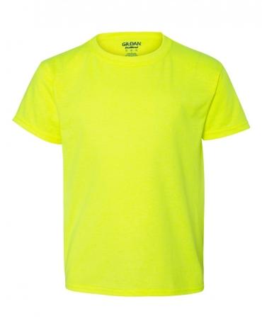 8000B Gildan Ultra Blend 50/50 Youth T-shirt SAFETY GREEN