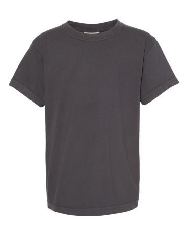 9018 Comfort Colors - Pigment-Dyed Ringspun Youth  GRAPHITE