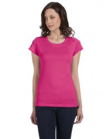 BELLA 8101 Womens Long Sheer T-shirt RASPBERRY