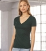 BELLA 8435 Womens Fitted Tri-blend Deep V T-shirt Catalog