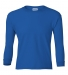 2400B  Gildan Youth 6.1 oz. Ultra Cotton® Long-Sleeve T-Shirt ROYAL