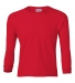 2400B  Gildan Youth 6.1 oz. Ultra Cotton® Long-Sleeve T-Shirt RED