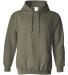 18500 Gildan Heavyweight Blend Hooded Sweatshirt MILITARY GREEN