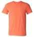 Gildan 64000 G640 Soft Style 30 Singles Ring-spun T-shirt  HEATHER ORANGE