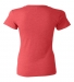 BELLA 8435 Womens Fitted Tri-blend Deep V T-shirt RED TRIBLEND