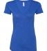 BELLA 8435 Womens Fitted Tri-blend Deep V T-shirt TRUE ROYAL TRBLN