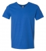 64V00 Gildan Adult Softstyle V-Neck T-Shirt ROYAL BLUE