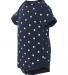 4400 Onsie Rabbit Skins® Infant Lap Shoulder Creeper NAVY/ WHITE DOT