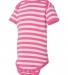 4400 Onsie Rabbit Skins® Infant Lap Shoulder Creeper RSPBRRY/ WH STRP