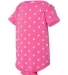 4400 Onsie Rabbit Skins® Infant Lap Shoulder Creeper RSPBRRY/ WHT DOT