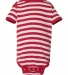 4400 Onsie Rabbit Skins® Infant Lap Shoulder Creeper RED/ WHT STRIPE