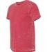 BELLA+CANVAS 3650 Mens Poly-Cotton T-Shirt RED ACID WASH