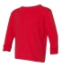 RS3302 Rabbit Skins Toddler Fine Jersey Long Sleeve T-Shirt RED