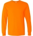 5400 Gildan Adult Heavy Cotton Long-Sleeve T-Shirt S ORANGE