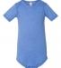 100B Bella + Canvas Baby Short Sleeve Onesie HTHR COLUM BLUE