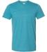 Gildan 64000 G640 Soft Style 30 Singles Ring-spun T-shirt  HTR GALOPGS BLUE