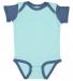 4400 Onsie Rabbit Skins® Infant Lap Shoulder Creeper CHILL/ INDIGO