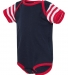 4400 Onsie Rabbit Skins® Infant Lap Shoulder Creeper NV/ RD/ RD WH ST