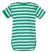 4400 Onsie Rabbit Skins® Infant Lap Shoulder Creeper KELLY/ WHITE STR