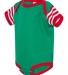 4400 Onsie Rabbit Skins® Infant Lap Shoulder Creeper KL/ RD/ RD WH ST