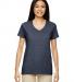 5V00L Gildan Heavy Cotton™ Ladies' V-Neck T-Shirt HEATHER NAVY