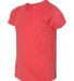 3413Y Bella + Canvas Youth Triblend Jersey Short S RED TRIBLEND