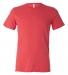 BELLA+CANVAS 3413 Unisex Howard Tri-blend T-shirt RED TRIBLEND