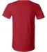 BELLA+CANVAS 3005 Cotton V-Neck T-shirt CANVAS RED