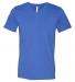 BELLA+CANVAS 3005 Cotton V-Neck T-shirt HTHR TRUE ROYAL