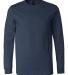 BELLA+CANVAS 3501 Long Sleeve T-Shirt HEATHER NAVY