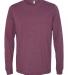 BELLA+CANVAS 3501 Long Sleeve T-Shirt MAROON TRIBLEND