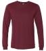 BELLA+CANVAS 3501 Long Sleeve T-Shirt HEATHER CARDINAL