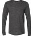 BELLA+CANVAS 3501 Long Sleeve T-Shirt CHRCL BLK SLUB