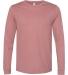 BELLA+CANVAS 3501 Long Sleeve T-Shirt HEATHER MAUVE