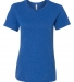 BELLA 6400 Womens Relaxed Jersey Tee TRUE ROYAL TRIBD