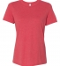 BELLA 6400 Womens Relaxed Jersey Tee RED TRIBLEND