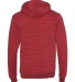 BELLA+CANVAS 3719 Unisex Cotton/Polyester Pullover RED MARBLE FLC