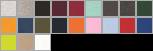 1304 swatch palette